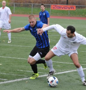 Serbian Eagles' midfielder Filip Velasevic takes control in first half CSL Championship action