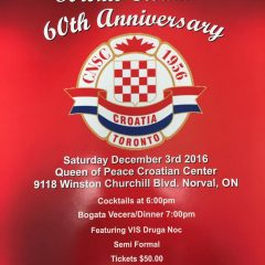 Toronto Croatia is Celebrating 60 years of Anniversary
