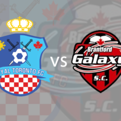 Game has been canceled between Royal Toronto FC vs Brantford Galaxy at 6:00 pm